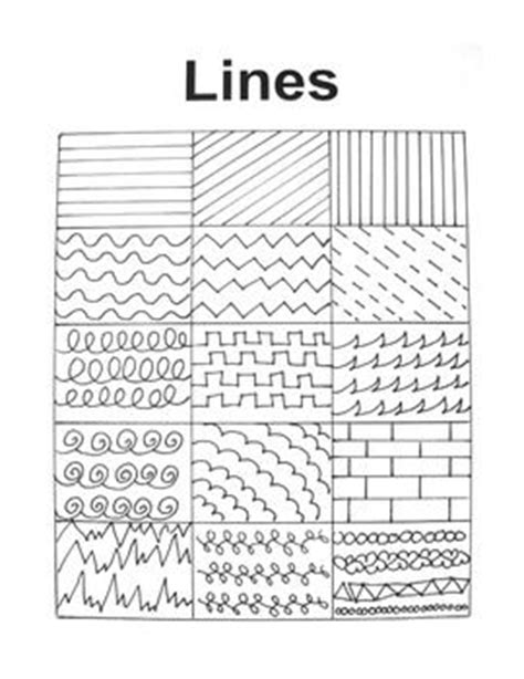 pattern in drawing definition line handout for art education different types of