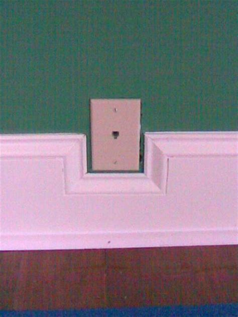 moulding around light switch finishing wainscoting around outlet doityourself com