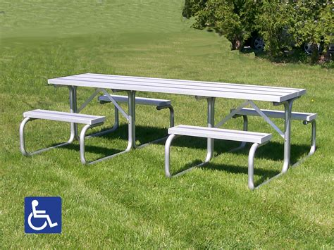 metal picnic benches aluminum picnic tables metal park tables national