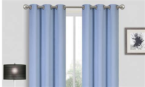 triple window curtains triple layered grommet window panel 2 piece light blue