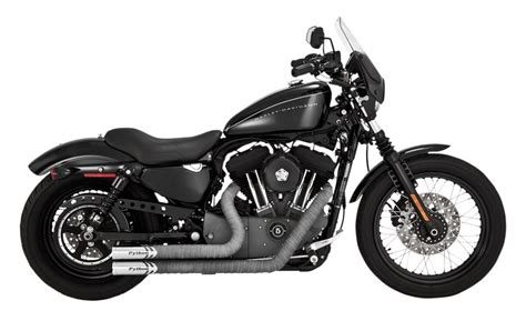 Exhaust For Harley Davidson by Python Throwback Exhaust For Harley Sportster 2014 2018