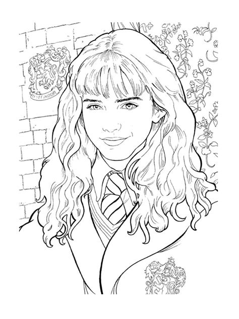 harry potter coloring pages hermione free hermione granger coloring pages