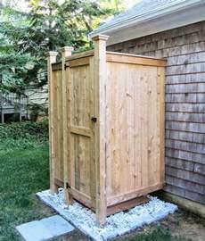 outdoor shower enclosure cedar showers ct nh ri vt me