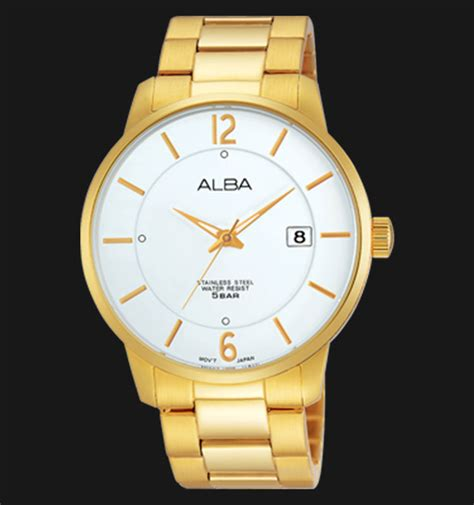 Harga Jam Tangan Alba Guarantee Booklet alba as9968x1 white gold stainless steel bracelet jamtangan