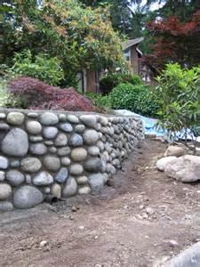 Rock Garden Wall River Rock Wall House Of