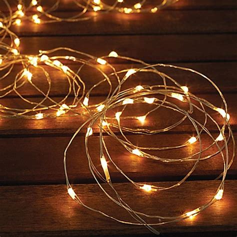 Solar Powered 150 Bulb Micro Led String Lights Bed Bath Micro String Lights