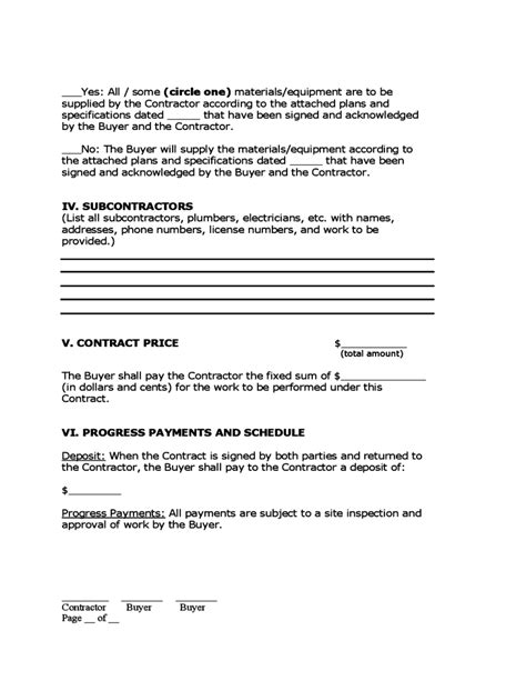 home improvement contract forms 28 images home