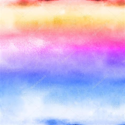 Calming Colours by Colorful Pastel Painted Water Color Rainbow Background And