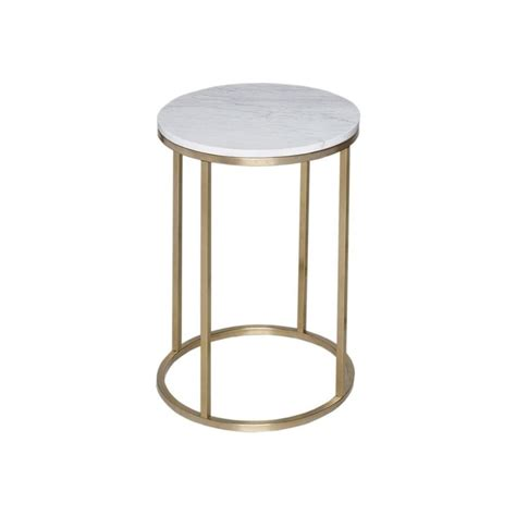 marble gold side table buy white marble and gold metal side table from fusion living
