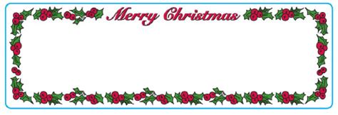 Xmas Mailing Label Templates