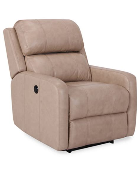 Leather Power Recliner Chair Colton Leather Power Recliner Furniture Macy S