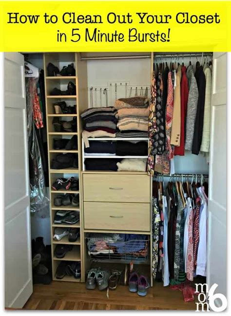 clean   closet   minute bursts momof