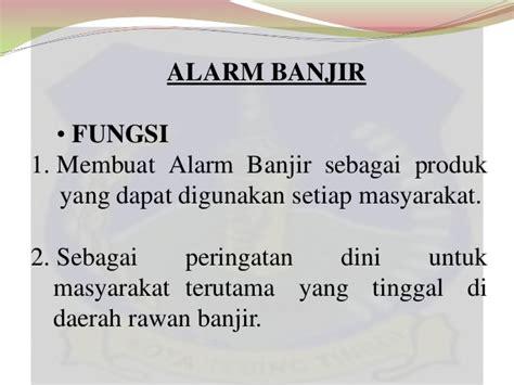 Saklar Apung alarm banjir