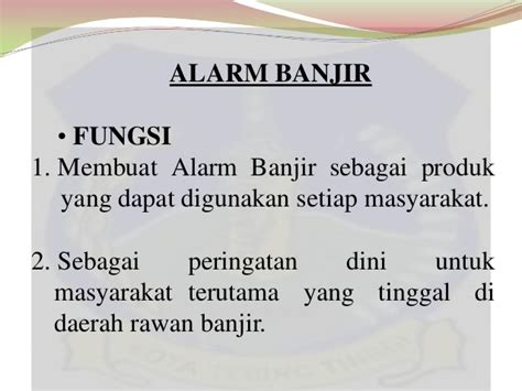 Alarm Banjir alarm banjir