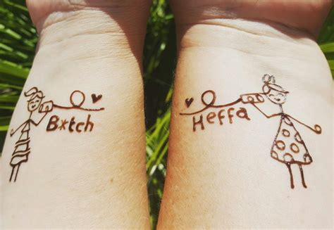 henna tattoos destin a awesome twist to the much loved best friend