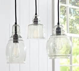 pottery barn kitchen lighting paxton glass single pendants midcentury pendant lighting by pottery barn