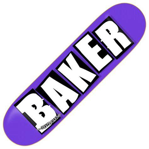 Baker Skateboards baker skateboards baker brand logo purple skateboard deck