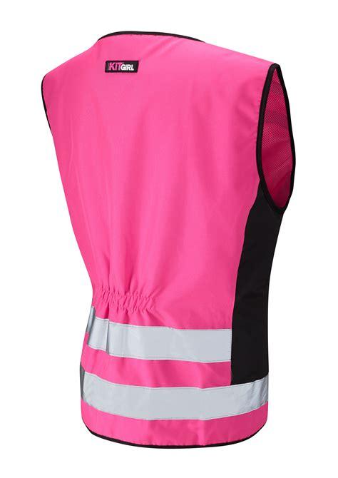 Pink Vest hi vis pink safety vest waistcoat work kit
