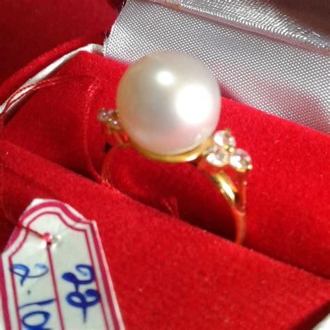 Mutiara Asli Lombok Flower Ring handmade gold ring with south sea pearl cez 55 harga mutiara lombok perhiasan toko emas