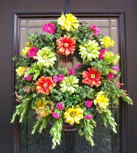 Summer Wreath For Front Door Wreaths Summer Wreath Front Door Wreath Colorful Wall