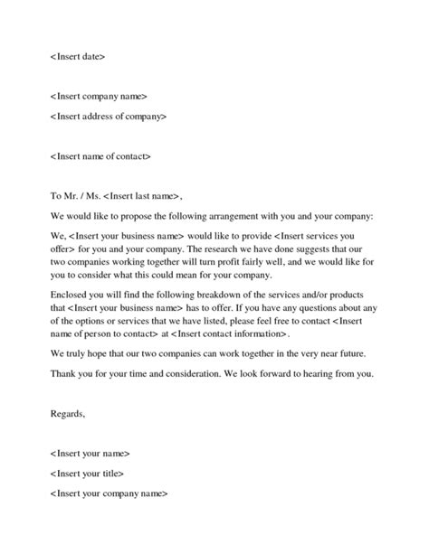 example of business proposal letter ideas business document