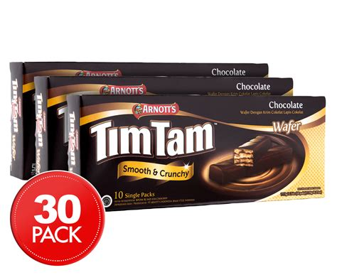 3 x arnott s tim tam chocolate wafers 10pk 77 5g scoopon