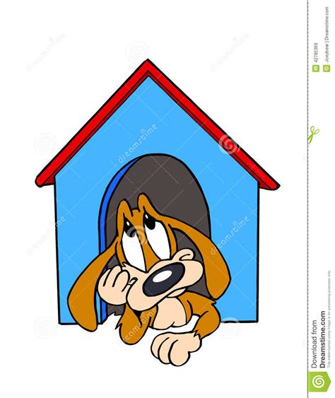 dog in the dog house dog in the doghouse stock illustration image 42785369