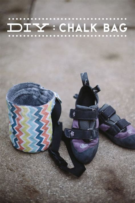 climbing shoe bag delightfully tacky diy chalk bag crafts