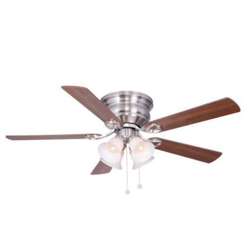 hton bay clarkston ceiling fan clarkston 52 in indoor brushed nickel ceiling fan