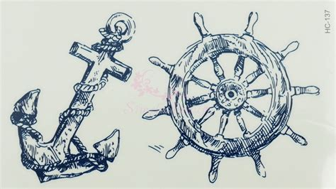 boat steering wheel tattoo images