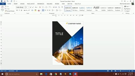 design book cover using microsoft word how to design a book cover using ms word part 1