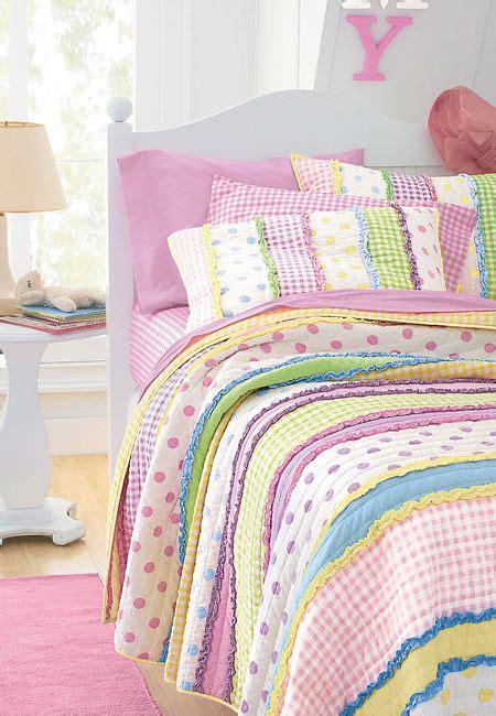 girls dottie quilt striped polka dot gingham
