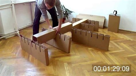 cardboard bed cardboard bed assembly youtube