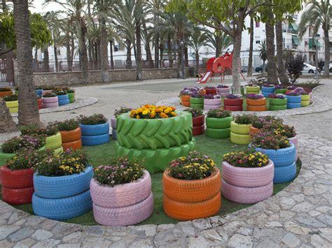 imagenes de jardines con neumaticos reciclado de neum 225 ticos revista cesvimap