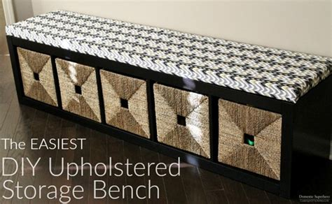 upholstered storage bench diy the easiest diy upholstered bench today s creative life