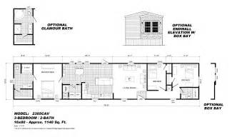 18x80 Mobile Home Floor Plans Single Section Our Homes