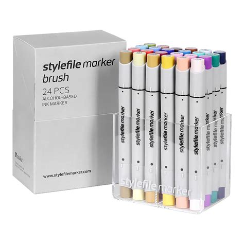 Simbalion Brush Marker Set Of 24 stylefile marker brush 24 set b spraydaily