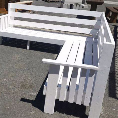 high quality outdoor corner garden bench in white in cape town