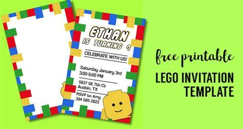 boy lego birthday card template word free printable lego birthday invitation template