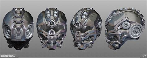 helmet design zbrush sci fi helmet zbrush sculpt turnaround by darrentucker