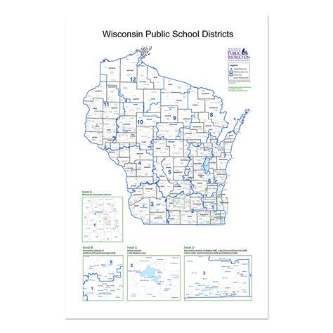 School District Search By Home Address 2014 Wisconsin School District Cesa Map Dpi