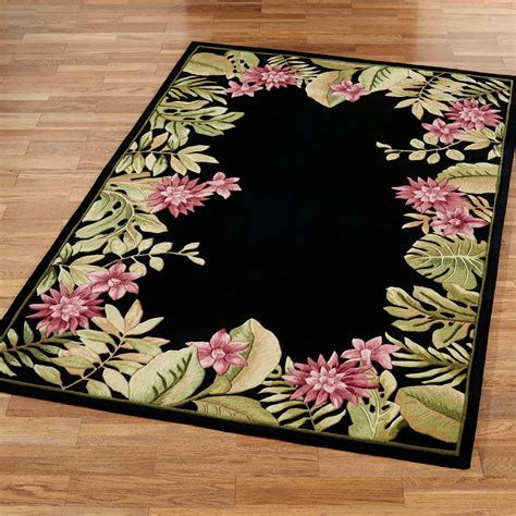 tropical accent rugs tropical haven floral area rugs