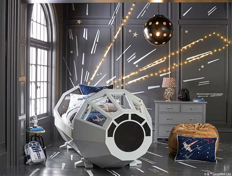 Pottery Barn Wall Murals star wars space mural diy