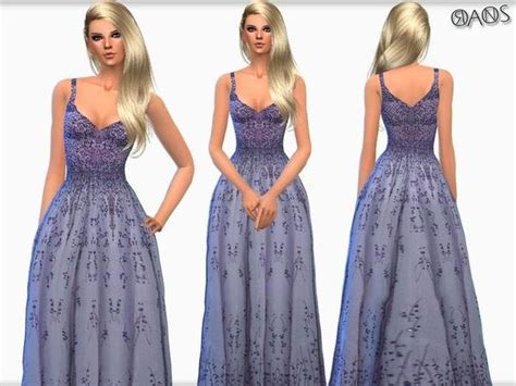 ball gown sims 4 the sims resource violet embroidered tulle v neck ball