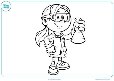 dibujos para colorear de cientificos dibujos de las profesiones para colorear mundo primaria