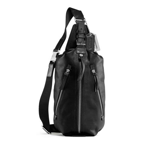 Coach Sling Backpack 2 coach thompson leather sling pack in black lyst
