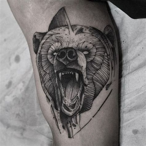 36 grizzly bear tattoo designs with meaning