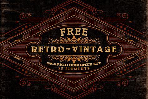 vintage style logo design photoshop free retro vintage graphic designer kit v 2 dealjumbo