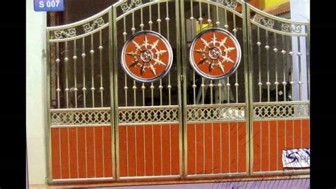 Indian Front Home Design Gallery by Stainless Steel Grill Gate Design Youtube