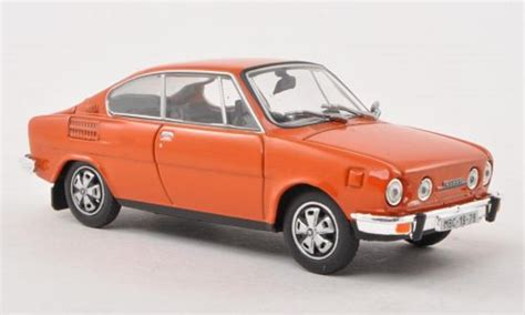 skoda 110 r orange abrex diecast model car 1 43 buy sell